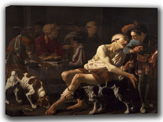 Brugghen, Hendrick Ter: The Rich Man and the Poor Lazarus. Fine Art Canvas. Sizes: A4/A3/A2/A1 (002151)